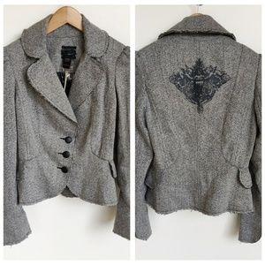 New Anthro/Revolve Jak & Rae Gray Blazer Jacket